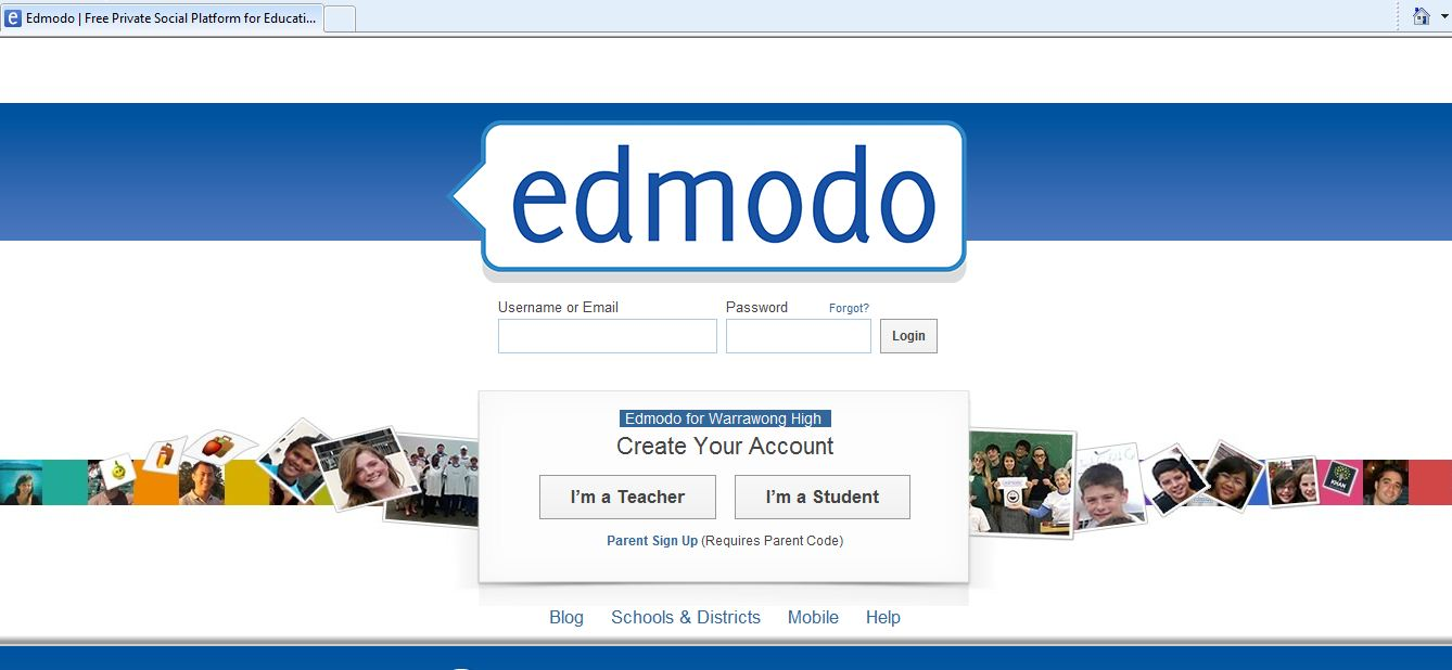 Warrawong Edmodo Home Page